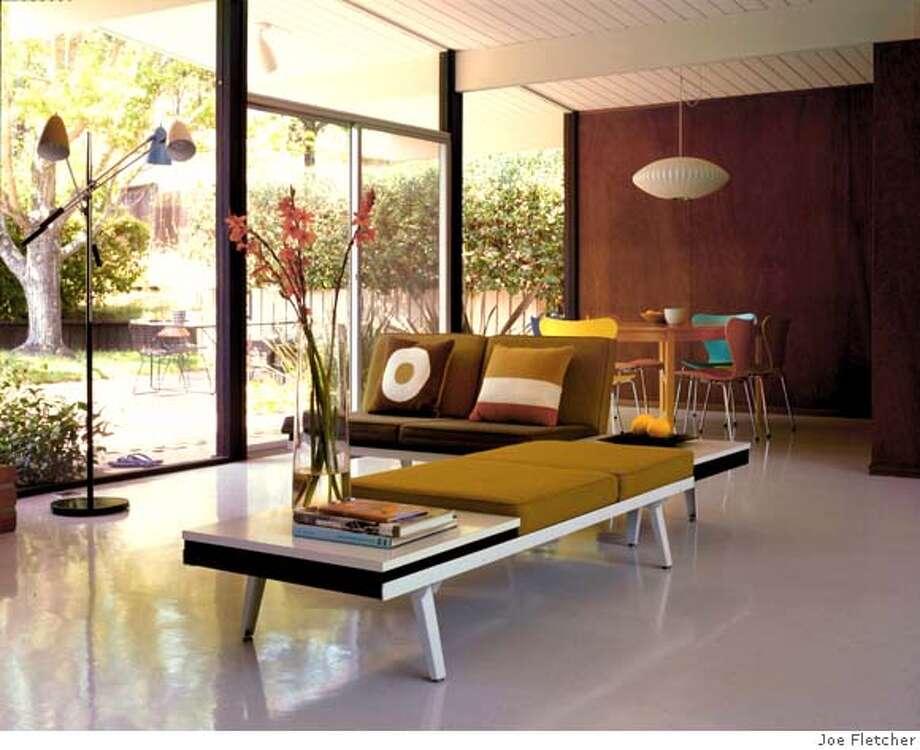 EICHLER_02.jpg A. Quincy Jones designed the Eichler home in San Rafael, CA now owned by Michael Sainato and Iris in t' Hout. Photo by JOE FLETCHER / Handout Photo: JOE FLETCHER