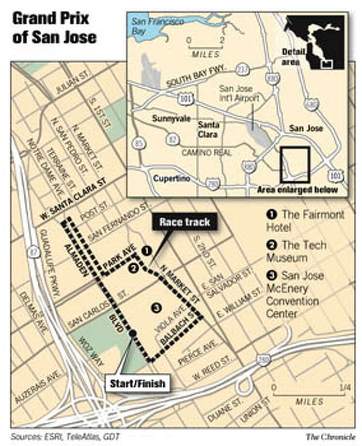 Grand Prix of San Jose. Chronicle Graphic