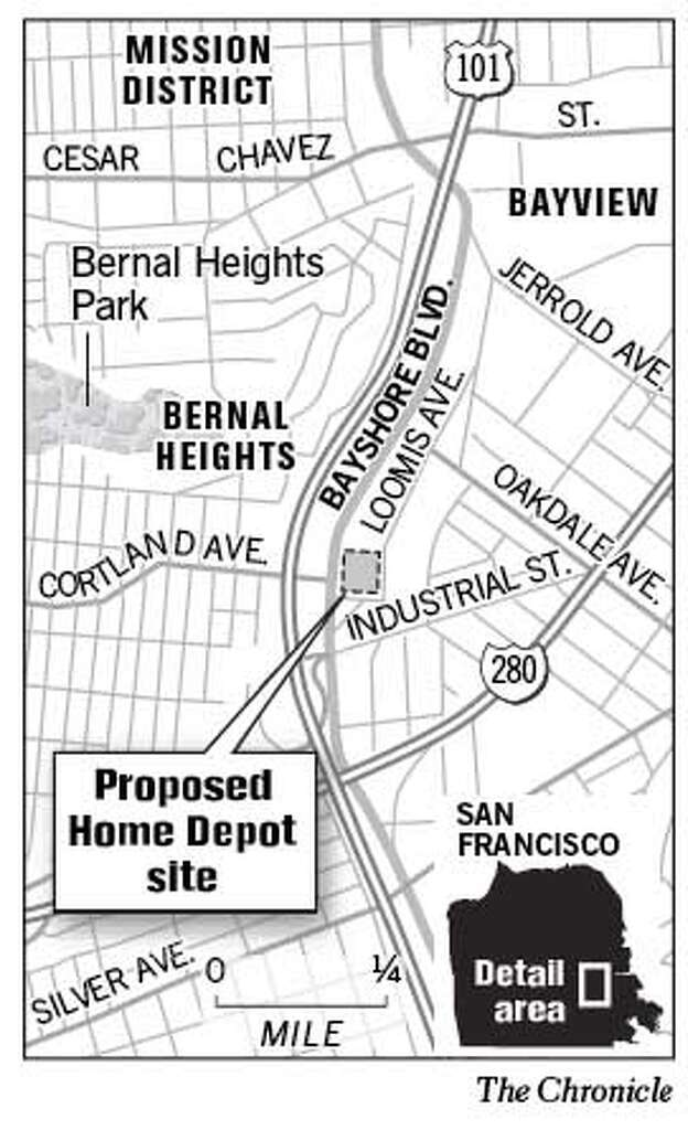 Proposed Home Depot Site Chronicle Graphic