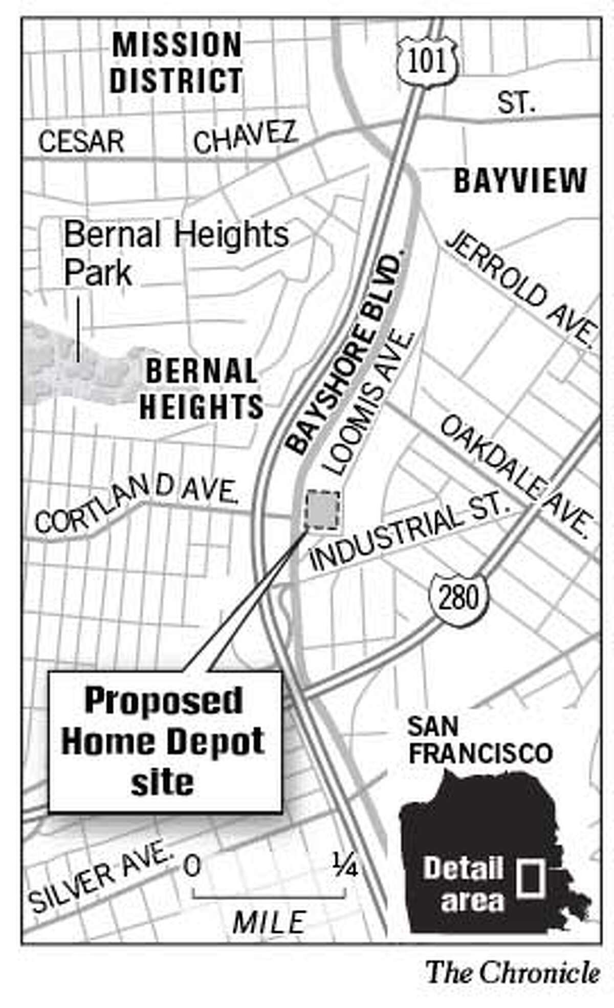 Proposed Home Depot Site. Chronicle Graphic