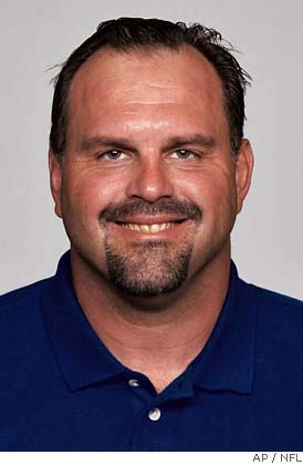 ** FILE ** Greg Manusky is shown in this 2006 handout photo released by the NFL. The San Francisco 49ers hired San Diego linebackers coach Greg Manusky as their defensive coordinator Thursday, Feb. 1, 2007. Manusky, who played 12 seasons in the NFL, spent the last five years on the Chargers' staff, where he worked with one of the league's top defenses. (AP Photo/NFL) MAGS OUT. EDITORIAL USE ONLY. A 2006 HANDOUT PHOTO Photo: Adfad