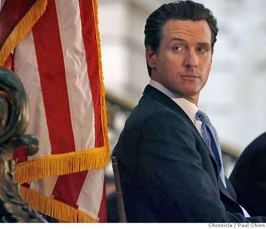 Mayor Gavin Newsom attended a kick-off ceremony for Black History Month at City Hall in San Francisco, Calif. on Friday, Feb. 2, 2007 one day after acknowledging an affair with the wife of his former campaign manager Alex Tourk.  PAUL CHINN/The Chronicle MANDATORY CREDIT FOR PHOTOGRAPHER AND S.F. CHRONICLE/ - MAGS OUT Photo: PAUL CHINN