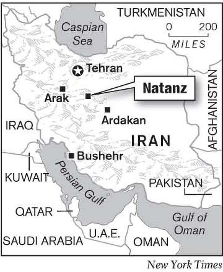 Natanz, Iran. New York Times Graphic