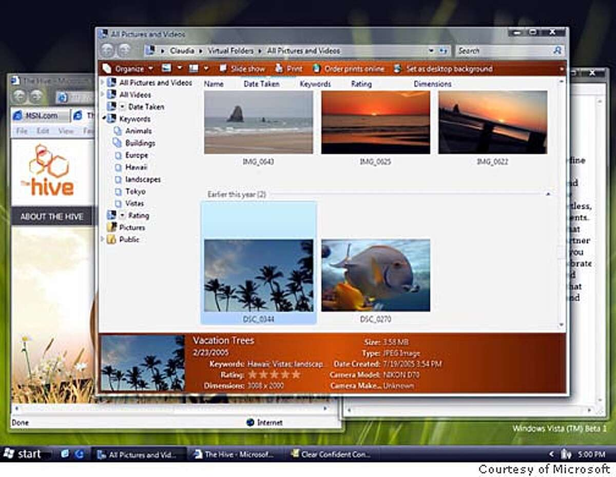 Microsoft Windows Vista: Pictures and Video. Courtesy of Microsoft