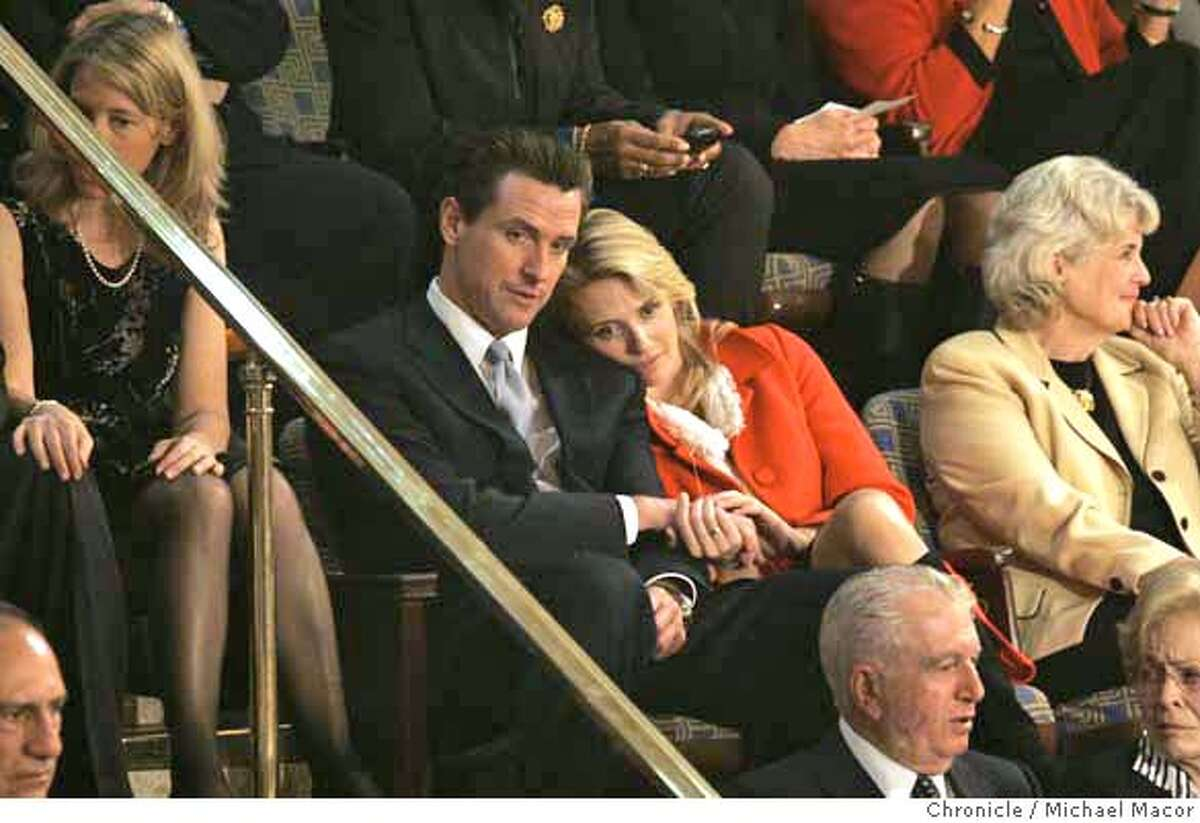 pelosi4_130_mac.jpg Mayor Gavin Newsom and girlfriend Jennifer Siebel watch the ceremony from the balcony above the hOuse floor. The 110th Congress opening day ceremonies as Nancy Pelosi is officially voted into office as Speaker of the House today. Event in, Washington, DC, on 1/4/07. Photo by: Michael Macor/ San Francisco Chronicle Ran on: 01-05-2007 San Francisco Mayor Gavin Newsom and girlfriend Jennifer Siebel watch the ceremony from the gallery above the House floor. Mandatory credit for Photographer and San Francisco Chronicle / Magazines Out
