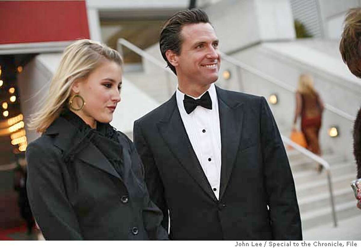 SEPT 6 - Opening night at the San Francisco Symphony. Vignettes of various fashion of San Francisco's well-heeled. Brittanie Mountz and Mayor Gavin Newsom. By JOHN LEE/SPECIAL TO THE CHRONICLE