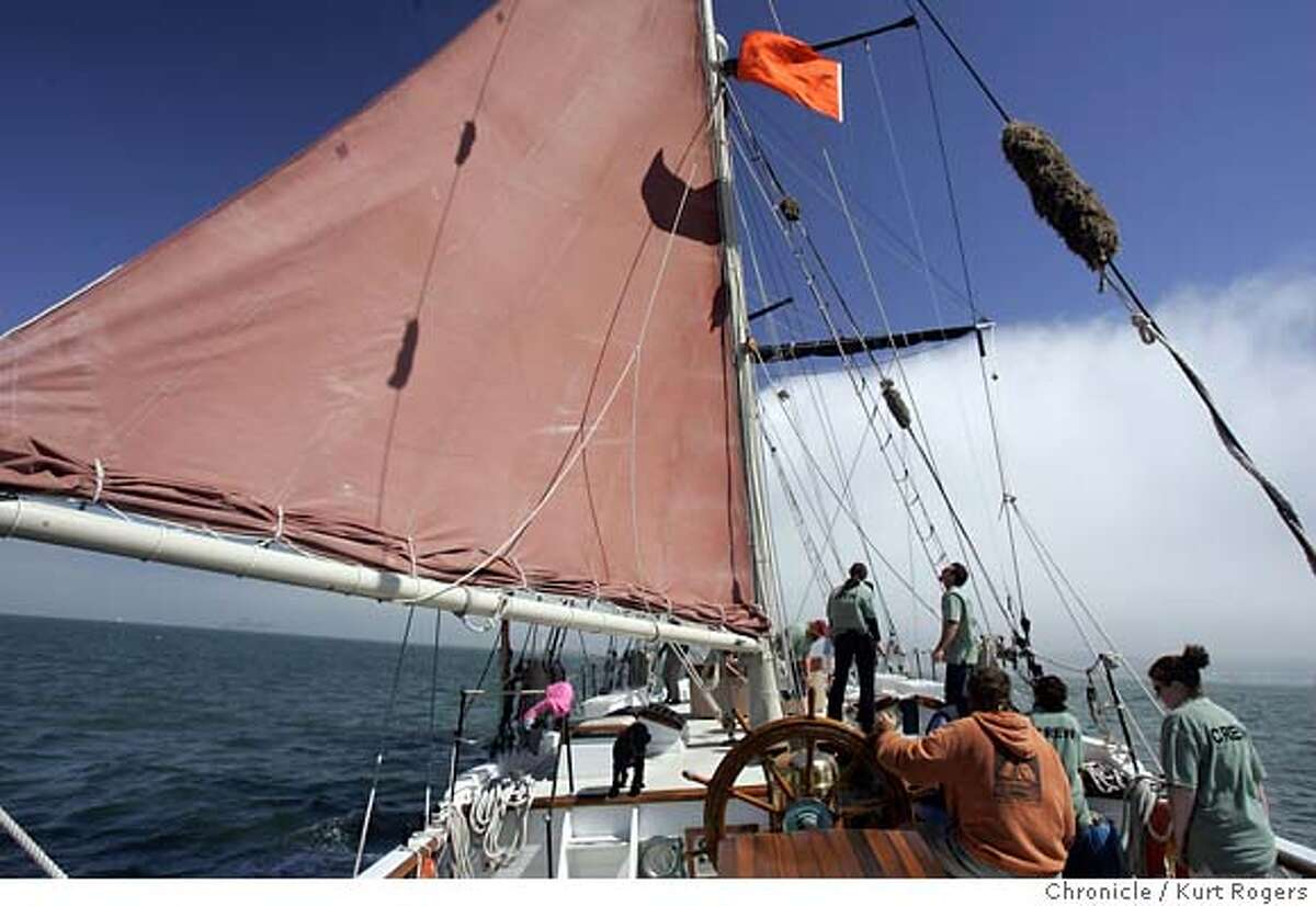 Sailing with the TALOFA. 115 Tons and 3000 sq ft of sail area .It will be out on the bay for Sail San Francisco, a maritime festival that begins Thursday, and continues through Sunday. More than 30 tall ships and smaller vessels from as far away as Russia and New Zealand will participate in a