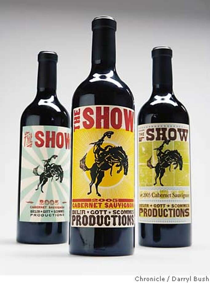 "sn26_wine0002_db.JPG  ""The Show"" wine in studio, San Francisco, CA, on Tuesday, January, 23, 2007. photo taken: 1/23/07  Darryl Bush / The Chronicle ** (cq) MANDATORY CREDIT FOR PHOTOG AND SF CHRONICLE/ -MAGS OUT Photo: Darryl Bush"