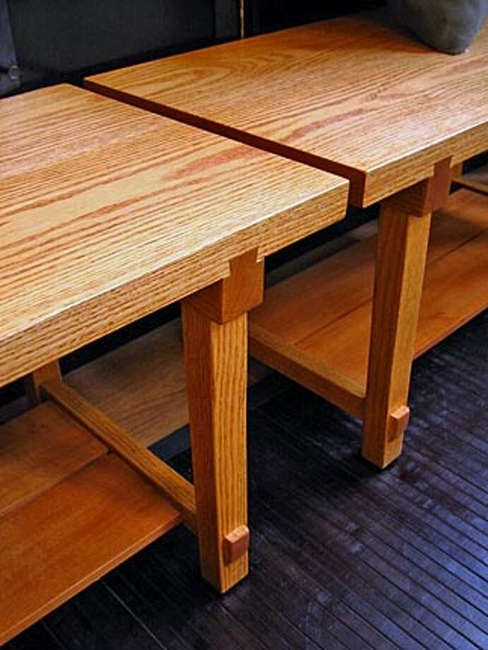 Japanese modern tables in silver birch and mahogany at Vessel in Berkeley. HANDOUT/ HANDOUT Photo: HANDOUT