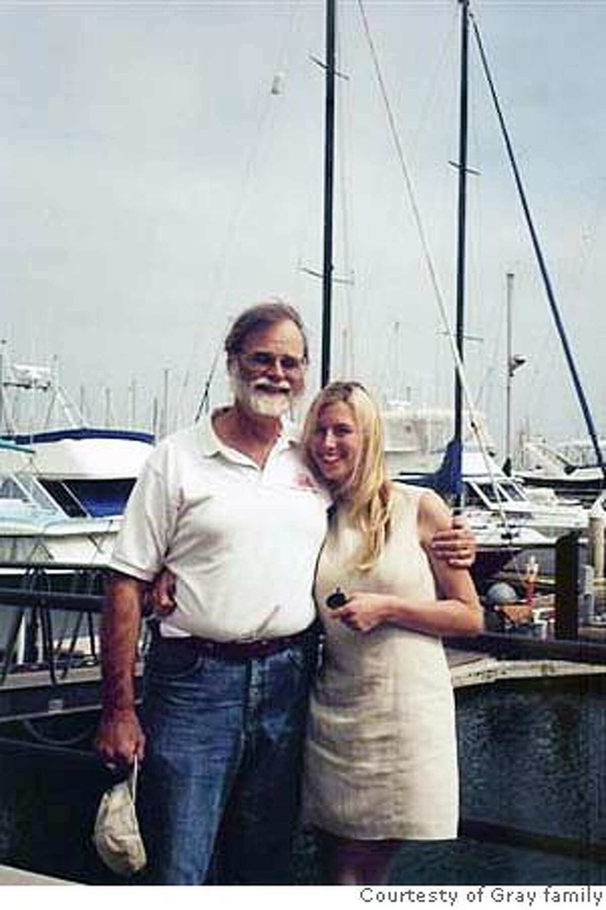 Photo of Jim Gray (left). Gray was reported missing when his 40-foot sailboat apparently disappeared on a day cruise to the Farallon Islands, Sunday Jan. 28, 2007. FAMILY HANDOUT PHOTO.