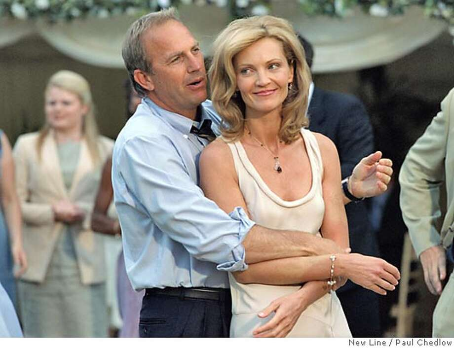 "In this photo provided by New Line, Kevin Costner (left) as Denny and Joan Allen as Terry in New Line Cinemas upcoming comedic drama, ""The Upside of Anger."" (AP Photo/New Line Productions/ Paul Chedlow) Ran on: 03-18-2005  Joan Allen and Kevin Costner portray a couple brought together by fate and geographic proximity in &quo;The Upside of Anger.&quo; Photo: PAUL CHEDLOW"