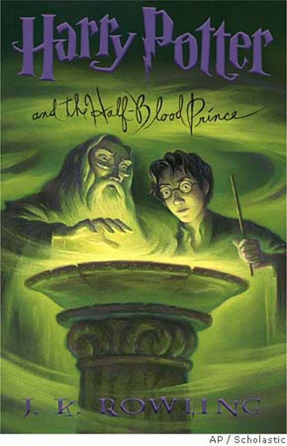 "**FILE**This photo supplied by Scholastic publishers shows the dust jacket cover of the U.S. version of ""Harry Potter and the Half-Blood Prince"" by J.K.Rowling, which is expected to be the runaway hit of the summer. The contents of the book, officially set for release this coming Saturday, July 16,2005, has been shrouded in secrecy and its debut has been highly orchestrated to enable everyone -- readers, reviewers, even publishers -- to crack it open all at once. It's the sixth in Rowling's seven-book fantasy series on the young wizard.(AP Photo/Scholastic)"