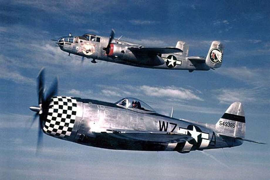 HANDOUT:  B-25 Mitchell Bomber and P-47 Thunderbolt will be on display this weekend at the Pacific Coast Dream Machines event in Half Moon Bay. For WEEKEND24 Photo: HO