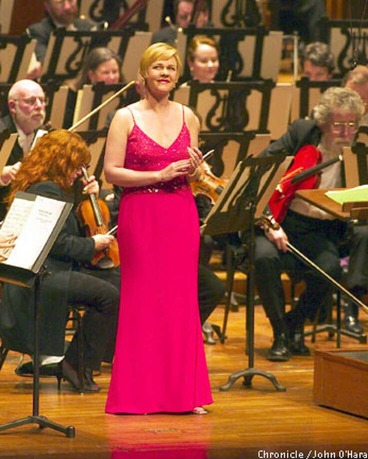 Soprano Barbara Bonney performs with the San Francisco Symphony on Wednesday. Chronicle photo by John O'Hara