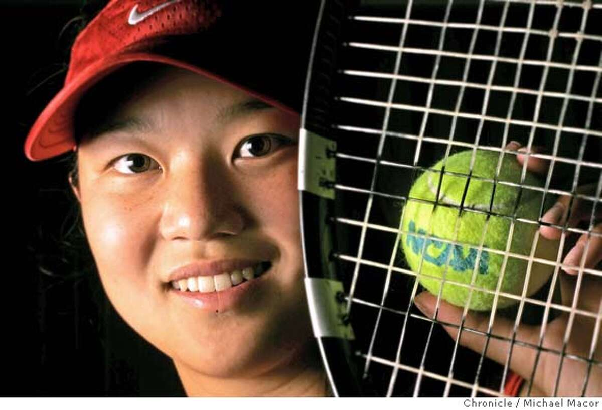 Amber Liu is two time NCAA women's tennis singles champion representing Stanford. If she wins it again she may turn professional though she is just a junior. Either way she will be playing the Bank of the West Tournament at Stanford beginning July 25. 5/14/05 Palo Alto, Ca Michael Macor / San Francisco Chronicle