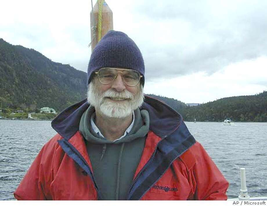This undated photo provided by Microsoft shows Jim Gray, 63, of San Francisco. The U.S. Coast Guard searched the waters off Northern California Wednesday, Jan 31, 2007, for Gray, a prominent computer scientist, who never returned from a sailing trip to scatter his mother's ashes at sea. (AP Photo/Microsoft) ** ** UNDATED PHOTO PROVIDED BY MICROSOFT; Photo: M
