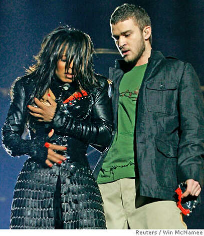 Singer Janet Jackson performs with singer Justin Timberlake during the ...