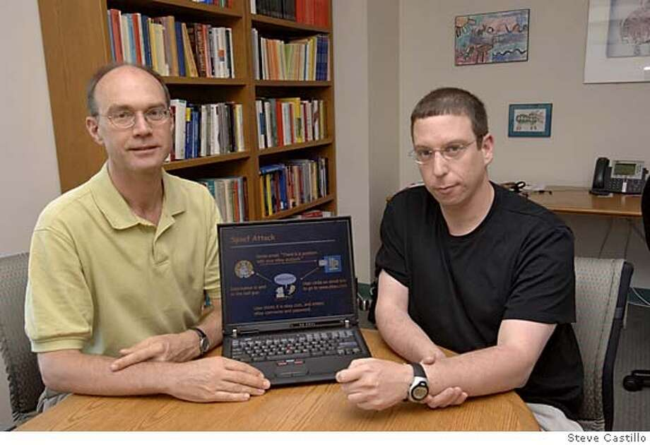 Stanford Professor John Mitchell and associate professor Dan Boneh are putting their research behind saving Internet users' from fraudsters' phishing nets. Photo by Steve Castillo Photo: Steve Castillo