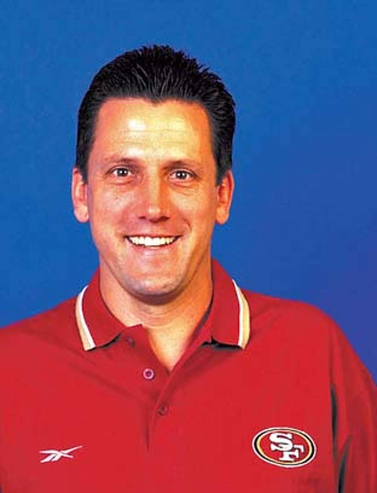 Gregg Knapp, 49ers offensive coordinator. handout from niner's organization. Greg Knapp Greg Knapp