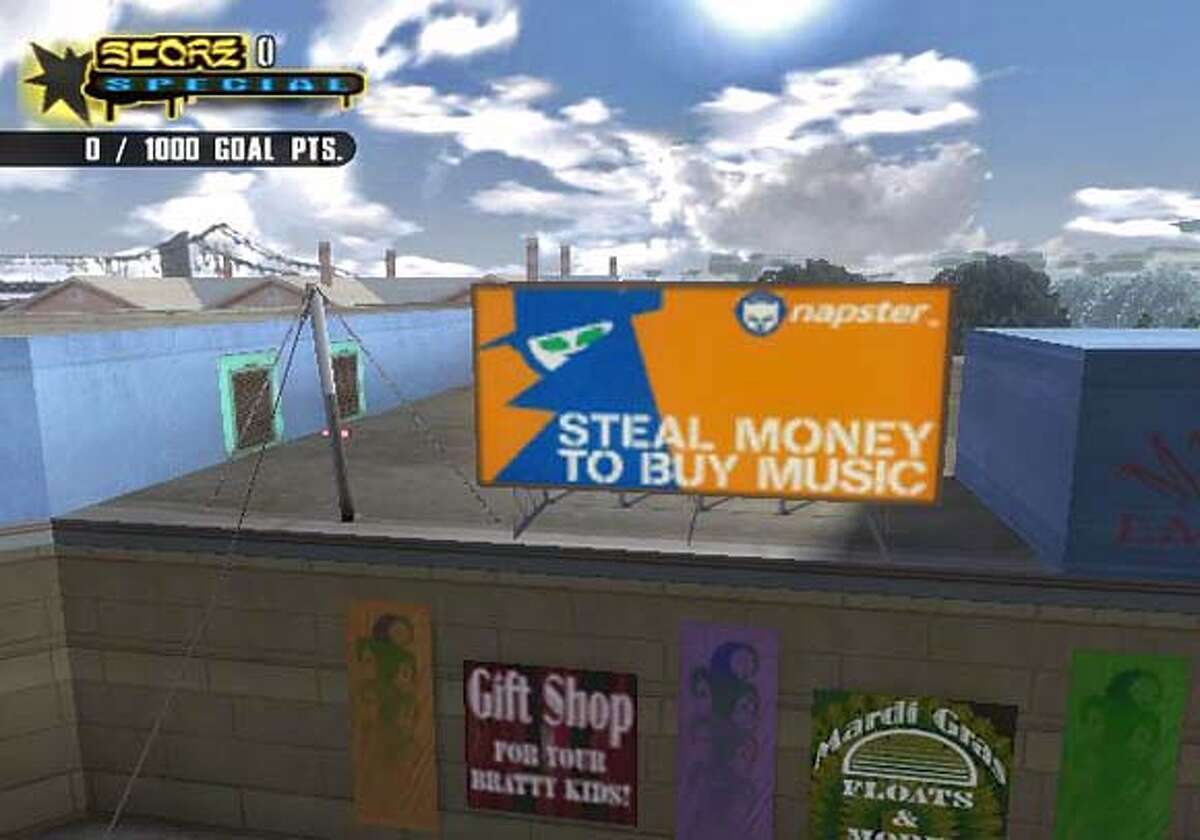 ADS25_ph2.JPG Napster ad in Tony Hawk's Underground 2 Courtesy Activision