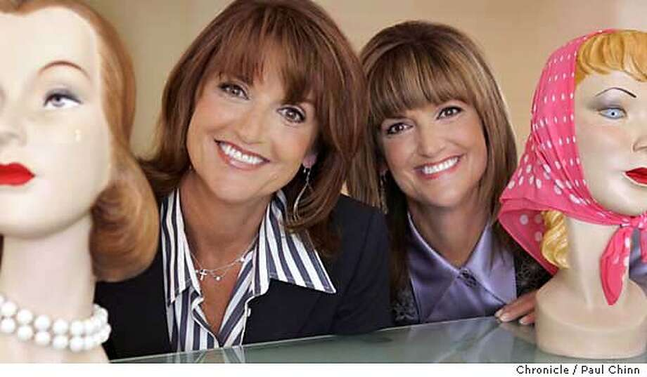 "Twin sisters Jean (left) and Jane Ford, co-creators of Benefit cosmetics, at their company's corporate headquarters on 7/12/05 in San Francisco, Calif. All proceeds of their new lip gloss ""Big Magic"" will benefit the Big Brothers and Big Sisters organization.  PAUL CHINN/The Chronicle Photo: PAUL CHINN"