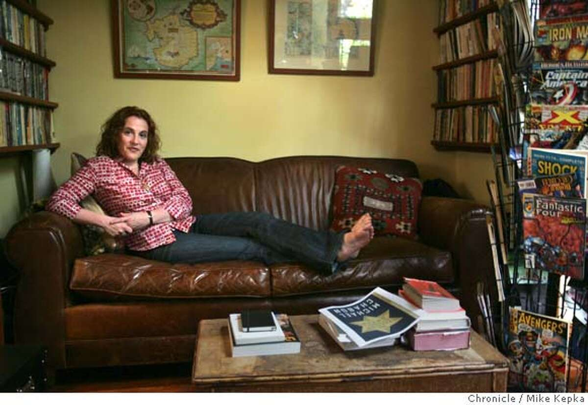Ayelet Waldman usually does her writing in a converted office shed she shares with her husband behind their Berkeley house. Ayelet Waldman, author and wife of Pulitzer prize winning author Michael Chabon, poses for our Sunday Chronicle Magazine. 6/8/05 Mike Kepka / The Chronicle