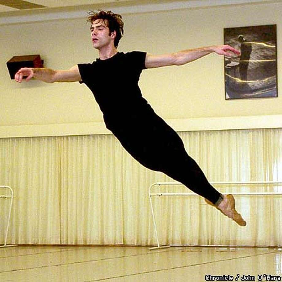 San Francisco Ballet, 455 Franklin st. Lew Christensen room.  The Balanchine Foundation video archives the ballet, The Fairys Kiss:  Helgi Tomasson (dancer, grey hair) and Gonzalo garcia (dancer)  photo/John O'Hara