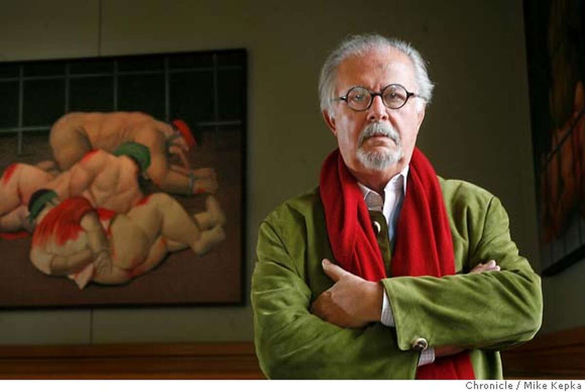 boter2900040_mk.JPG A collection of Fernando Botero's controversial Abu Ghraib paintings will be displayed at the Doe Library on UC Berkeley campus. 1/27/07. Mike Kepka / The Chronicle MANDATORY CREDIT FOR PHOTOG AND SF CHRONICLE/ -MAGS OUT