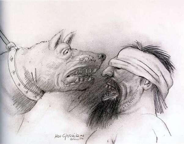 Botero, Abu Ghraib 6, 2004, 30 x 40 cm, pencil on paper  Ran on: 01-29-2007  &quo;Abu Ghraib 6&quo; (2004), pencil on paper. Photo: Ho