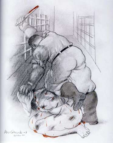 Botero, Abu Ghraib 9, 2004, 30 x 40 cm, pencil on paper  Ran on: 01-29-2007  &quo;Abu Ghraib 6&quo; (2004), pencil on paper. Photo: Ho