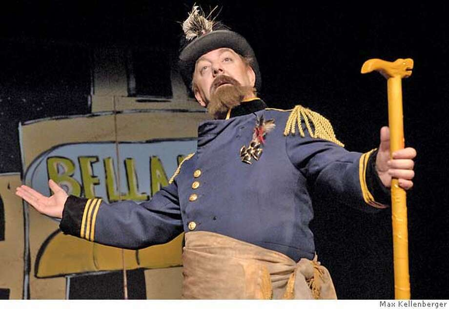 �EMPEROR NORTON - Stephen Pawley declaims as Emperor Norton. Photo by Max Kellenberger Photo: Max Kellenberger