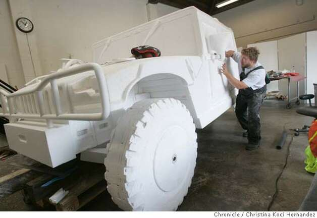No gas guzzling for this hummer it 39 s styrofoam sfgate for Christina hummer