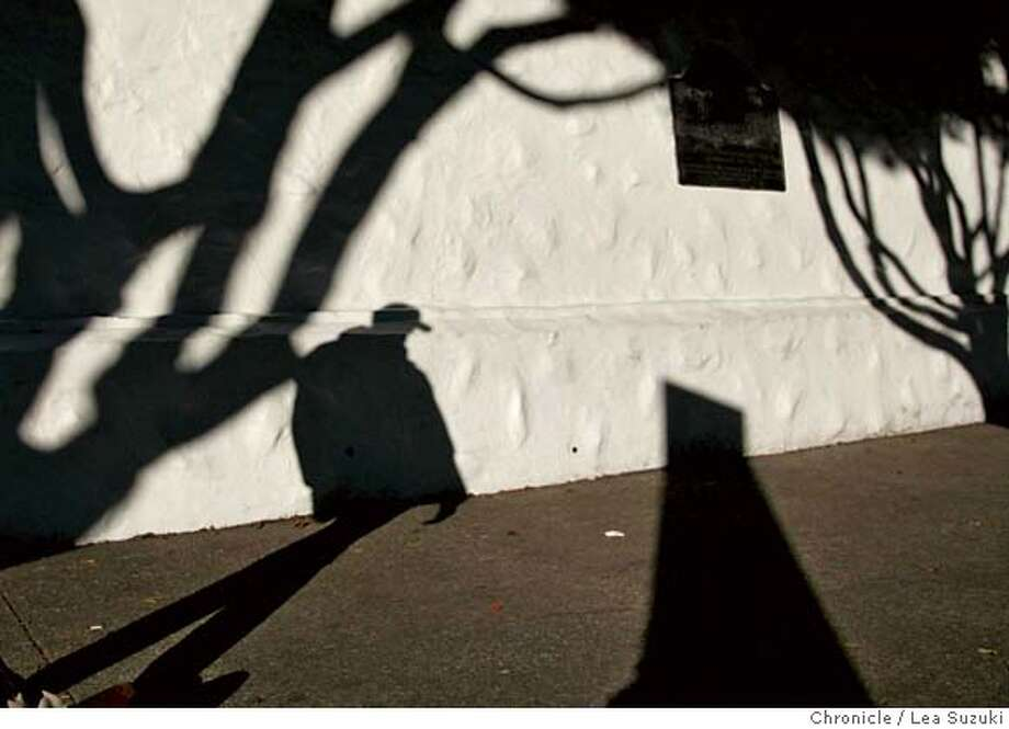 feature_023ls.jpg  A pedestrian walks along Dolores between 16th and 17th Streets in the early morning on Monsday, January 22, 2007. Photo by Lea Suzuki/The San Francisco Chronicle  Photo taken on 1/22/07, in San Francisco, CA. **(themselves) cq. MANDATORY CREDIT FOR PHOTOG AND SAN FRANCISCO CHRONICLE/ -MAGS OUT Photo: Lea Suzuki