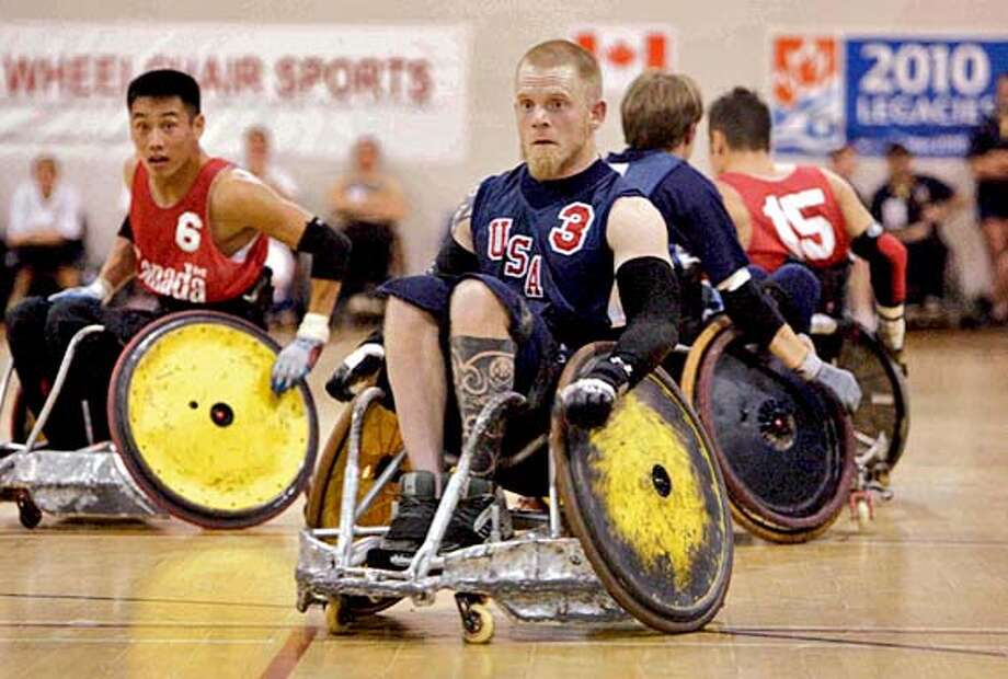 MURDERBALL22 Team USA Captain Mark Zupan battles Team Canada in the movie Murderball. HANDOUT