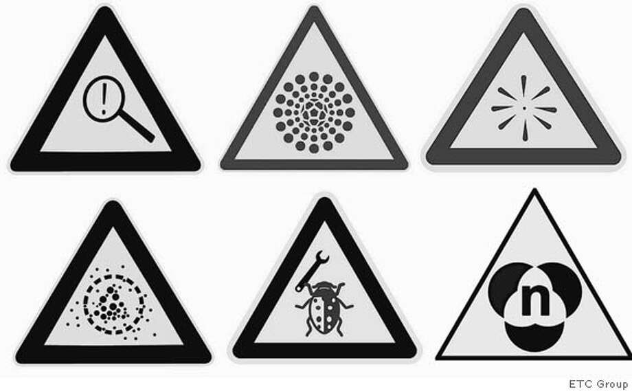 These signs were among hundreds submitted to ETC Group, which believes nanomaterials pose risks to people and the environment. Photo courtesy of ETC Group