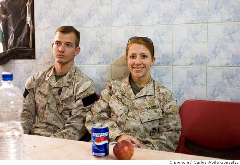 Photo of Maj. (then Capt.) Megan M. McClung, 34, of Coupeville, Wash., died Dec. 6, 2006, while supporting combat operations in Al Anbar province, Iraq. �McClung was assigned to I Marine Expeditionary Force Headquarters Group, I MEF, Camp Pendleton, Calif. Photo was taken in March 2006, when McClung was a Captain in the Marines and stationed in Fallujah, Iraq.  Photo by Carlos Avila Gonzalez/The San Francisco Chronicle  Photo taken on 3/14/06, in Baghdad, Baghdad Governorate, Iraq Photo: Carlos Avila Gonzalez