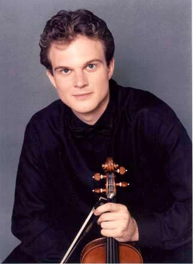 Violinist Axel (CQ) Strauss. Photo: Handout