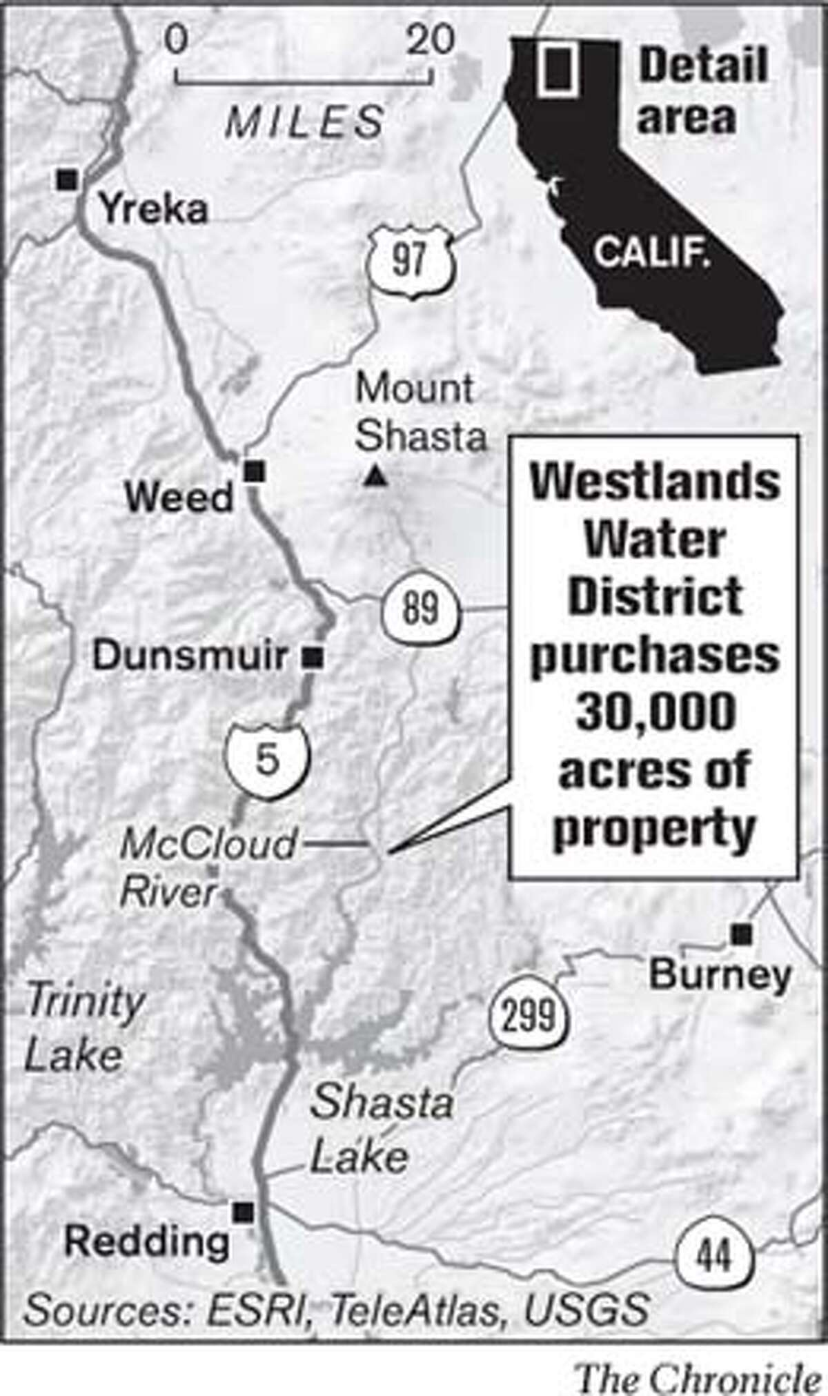 Westlands Water District purchases 30,000 acres of property. Chronicle Graphic