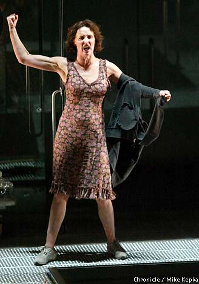 Fiona Shaw as Medea: Her riveting performance gained power during a time of violence and xenophobia. Chronicle photo by Mike Kepka