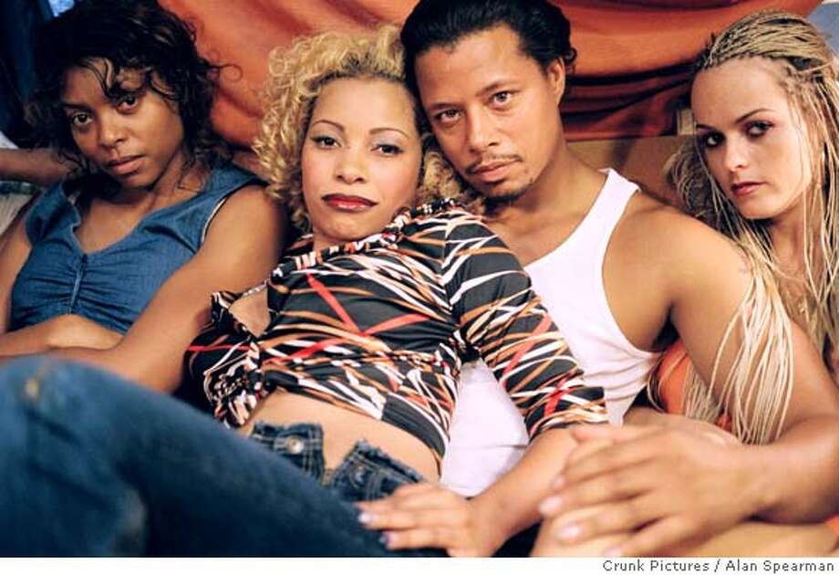 From l to r: Taraji Henson as Shug, Paula Jai Parker as Lexus, Terrence Howard as DJay, and Taryn Manning as Nola in HUSTLE & FLOW, written and directed by Craig Brewer. Photo Credit: Alan Spearman / Crunk Pictures
