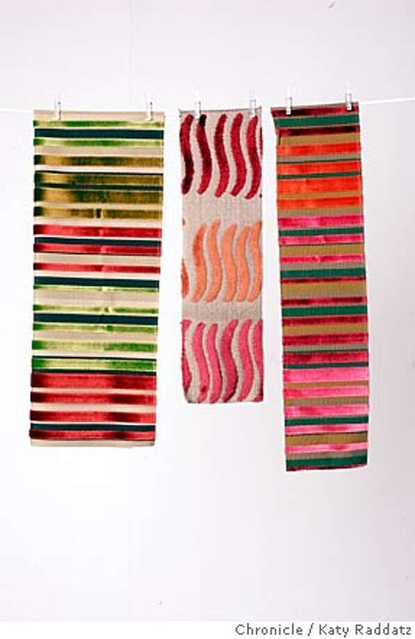 FABRICS010_RAD.JPG STORY ABOUT NEW FABRICS. Susan Fornoff writing for Home and Garden. Photo taken on 7/14/05, in SAN FRANCISCO, CA.  By Katy Raddatz / The San Francisco Chronicle Photo: Katy Raddatz