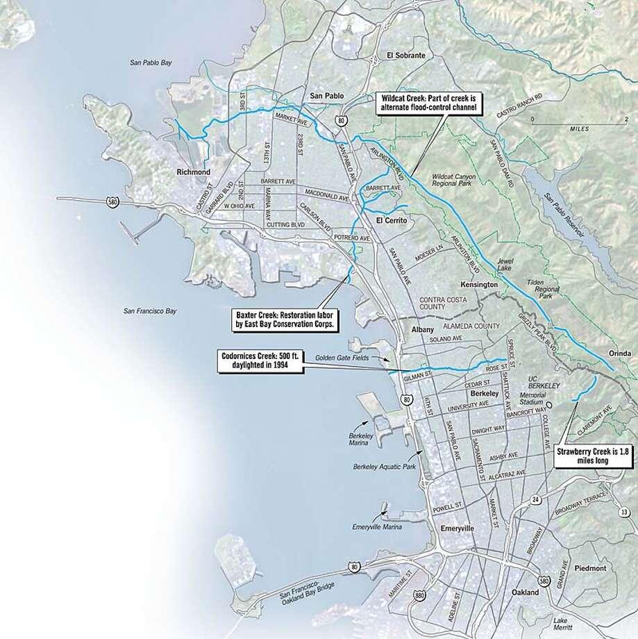 East Bay Creeks. Chronicle Graphic