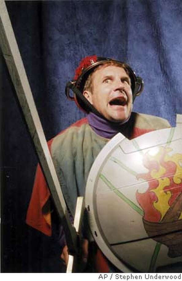 "Marin Shakespeare Company continues its summer festival at the Forest Meadows Amphitheatre, at Dominican University in San Rafael with ""The Knight of the Burning Pestle."" Opening July 15 this family comedy features madccap humor, downright silliness, a hit parade of music and actor Darren Bridgett (pictured)  Photo by Stephen Underwood Ran on: 07-17-2005  Darren Bridgett stars in &quo;The Knight of the Burning Pestle,&quo; playing a Don Quixote-like character, through Aug. 14 at Forest Meadows Amphitheatre."