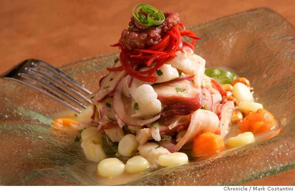 Ceviche, which was mentioned in the photo request. This is the third Fresca restaurant opened by Jose Calvo-Perez. Please get a picture of the interior, also the ceviche bar; Photograph by Mark Costantini/S.F. Chronicle.