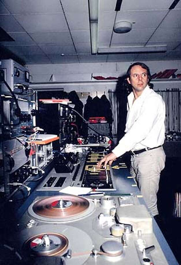Herr Stockhausen composing HYMNEN ca. 1967 Photo: Wener Scholz