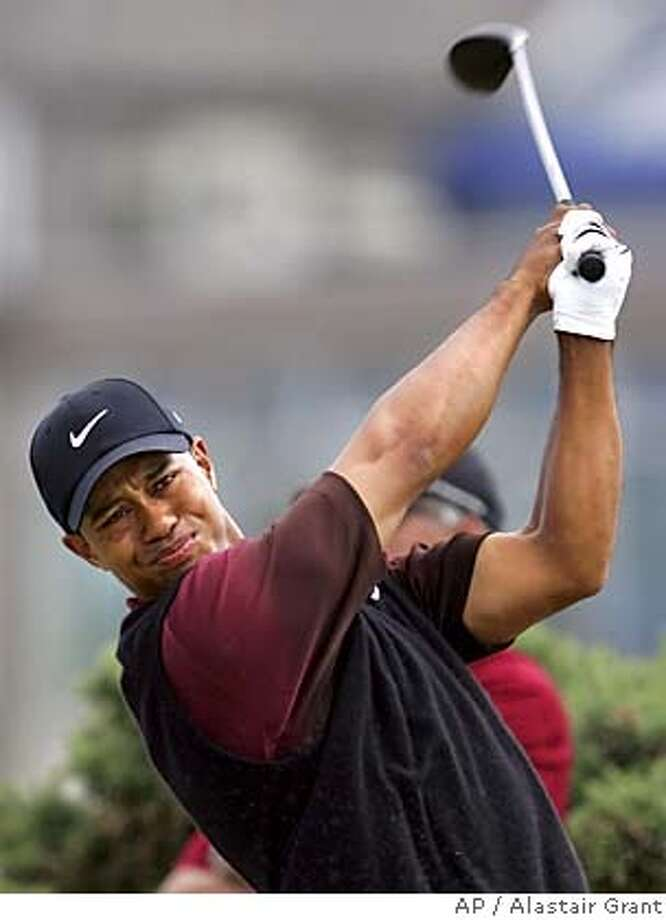 Tiger Woods of the United States plays from the 2nd tee during the final round of the British Open golf championship on the Old Course at St. Andrews, Scotland Sunday July 17, 2005. (AP Photo/Alastair Grant) EDITORIAL USE ONLY Photo: ALASTAIR GRANT
