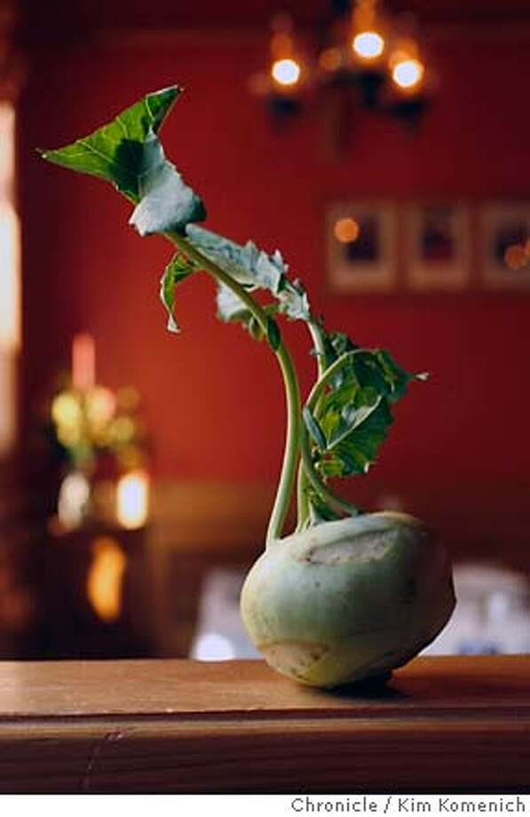 SEASONAL24_040_KK.JPG  Kohlrabi is the bulbous member of the cabbage family. Chef Andrew Thorpe of Matterhorn Swiss restaurantprovides us with this kohlrabi. He serves kohlrabi in a number of ways. The recipes he is giving us is for a creamed version.  Photo by Kim Komenich/The Chronicle.  **Andrew Thorpe �2007, San Francisco Chronicle/ Kim Komenich  MANDATORY CREDIT FOR PHOTOG ANT SAN FRANCISCO CHRONICLE. - MAGS OUT. Photo: Kim Komenich