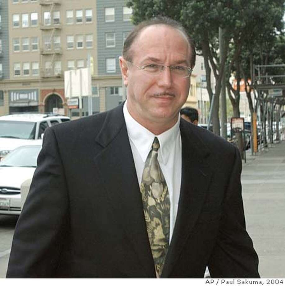 ** FILE ** Victor Conte, San Francisco Giants Barry Bonds' nutritional adviser and founder of the Bay Area Laboratory Co-Operative (BALCO) arrives at the Federal Courthouse in San Francisco, in this March 26, 2004 photo. The lack of a plea agreement between prosecutors and Conte, accused of distributing steroids to top athletes may make it more difficult for anti-doping authorities to build drug cases against track stars. Conte, founder of the Bay Area Laboratory Co-Operative, and his attorneys met with federal authorities for about three hours Thursday, June 4, 2004, in San Jose, Calif., but did not reach any deal. (AP Photo/Paul Sakuma) Ran on: 06-16-2004  Victor Conte says he could help in an investigation of the use of performance- enhancing substances.  ALSO RAN: 06/28/2004 Ran on: 06-28-2004 Ran on: 06-28-2004 Ran on: 06-28-2004  Tim Montgomery, left, testified that the steroid distributed by Victor Conte, right, did not enhance his performance. A March 26, 2004 file photo Photo: PAUL SAKUMA