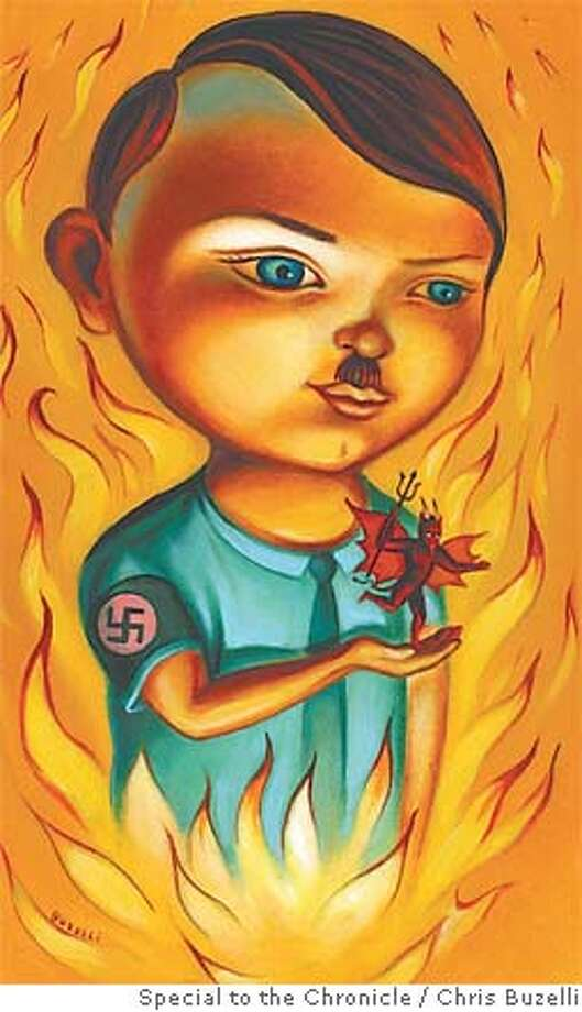 The Devil Made Him Do It: Norman Mailer imagines Hitler's childhood -- recounted by one of Satan's demons. Illustration by Chris Buzelli, special to the Chronicle