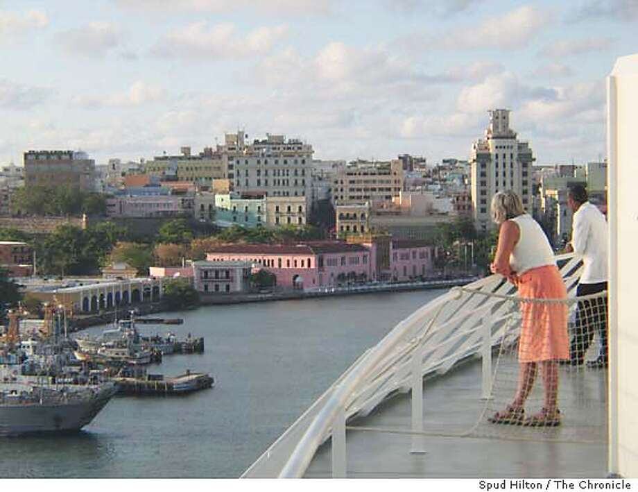 The port of Old San Juan, Puerto Rico, is seen from the MSC Opera cruise ship. Puerto Rico and the U.S. Virgin Islands are exempt from new passport regulations affecting other Caribbean destinations. Chronicle photo by Spud Hilton